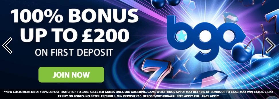 Bgo Casino review welcome bonus