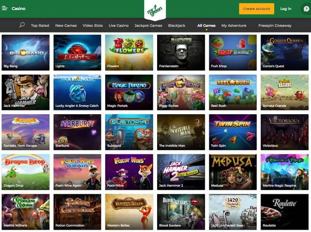 Mr green casino slot