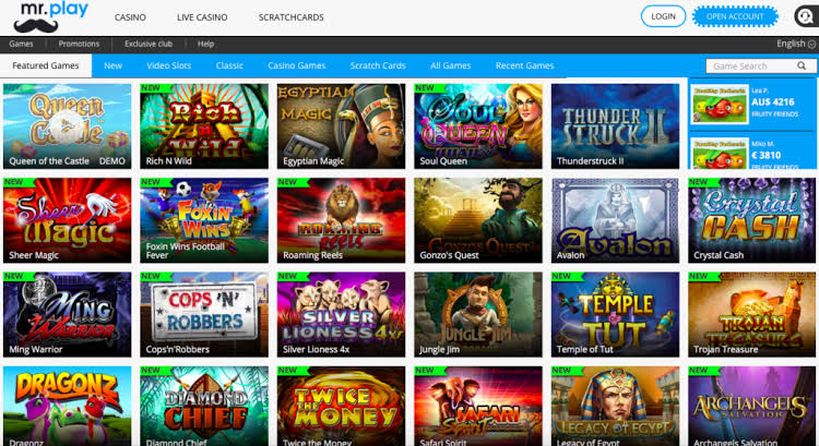 mr play casino slots page
