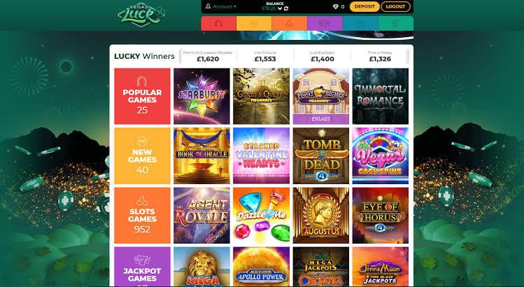 Vegas luck casino slots page