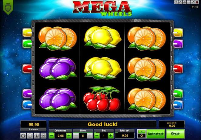 Game screen on mega wheels