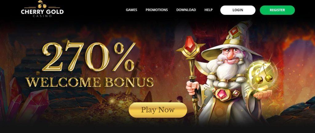 cherry gold casino welcome bonus