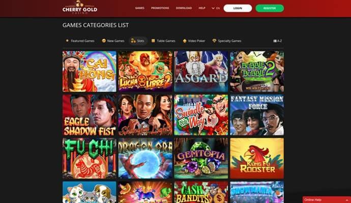 Slot games at cherry gold casino