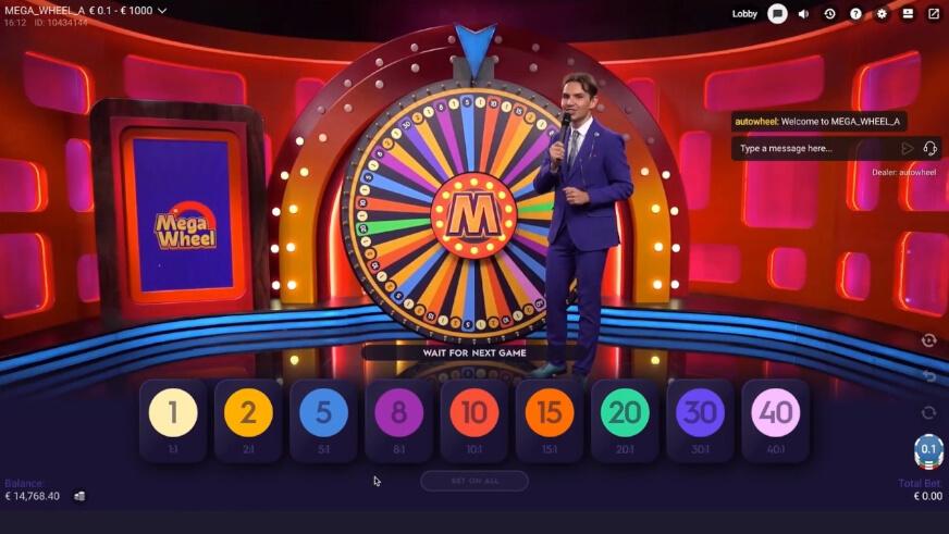 mega wheel live game show review